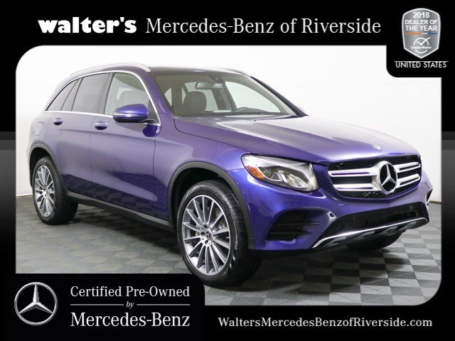 pre-owned 2018 mercedes-benz glc 300 4matic® suv in riverside